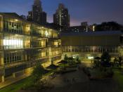 Anglo-Chinese School (International) at twilight.
