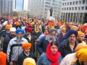 There was a huge parade today. Thousands of Sikhs celebrated Sikh new year. Khalsa Day was celebrated by thousands of people. Paul Martin, Jack Layton and Stephen Harper were even scheduled to how up at this massive event.