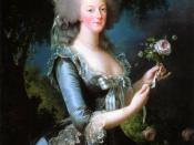 Queen Marie Antoinette of France, daughter of Empress Maria Theresia of Austria and Franz I. Stephan of Lorraine, wife of King Louis XVI. of France, 1783, Versailles.