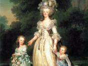 Queen Marie Antoinette of France with her children Princess Marie Therese Charlotte of France and Dauphin Louis Joseph of France, 1785, Museo Nazionale, Stoccolma
