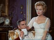 Cropped screenshot of Laurence Olivier and Marilyn Monroe in the trailer for the film The Prince and the Showgirl