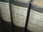 A photo of several volumes from the 1901 University Edition of The Works of Honoré de Balzac