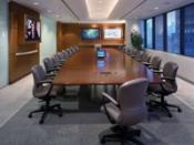 English: Integrated boardroom designed and installed by EDG in 2003.