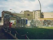 The Berlin Wall at Friedrichstrasse, East Germany