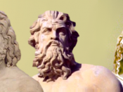 Zeus, Poseidon and Hades -- gods of heavens, sea, and underworld
