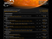 Screenshot of phpbb in use on a games forum.