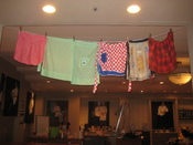Hanging aprons in Southern Food and Beverage Museum.