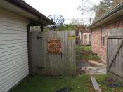 Jefferson Parish, Louisiana. Sign on fence