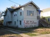 New Orleans after Hurricane Katrina: House in formerly flooded Broadmoor neighborhood has painted message on the
