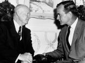 Bush with President Dwight D. Eisenhower
