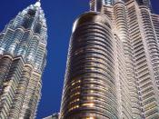 The Petronas Twin Towers. One of the towers was built by Hazama.