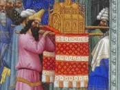 English: The Ark of God Carried into the Temple Español: El Arca introduciéndose en el Templo
