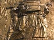 Relief, Auch Cathedral, France: the Ark of the Covenant.