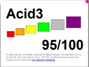 English: Acid3 rendered in Internet Explorer Mobile 9