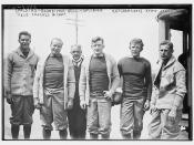 Spalding - Baumeister - Bull - Gallauer - Ketcham (Capt.) - Howard Jones -- Yale Coaches and Capt.  (LOC)
