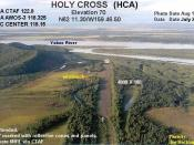 Annotated aerial photograph of (FAA: HCA) in Alaska, United States.