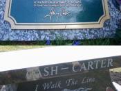 The tomb of Johnny Cash. Photographer: Jirjen.