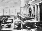 The Old Senate Chamber during the US Supreme Court's residency