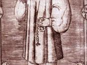 Image of Geoffrey Chaucer from Speght's edition of 1602. This is out of copyright, and all rights of the illustrator extinguished in the United Kingdom, since it is more than 70 -- more like 370 -- years after the death of the artist.