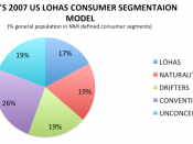 English: LOHAS Consumer segmentation model 2007