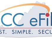 English: Logo of the SCC eFile website. Tagline: FAST.SIMPLE.SECURE. SCC eFile text over a silohuette of the state of Virginia. Created by the Virginia State Corporation Commission.