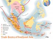 Trade route map of Southeast Asia around 12th to early 13th century AD