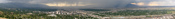 English: A panoramic view of Salt Lake City, Utah taken June 2009.