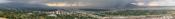 English: A panoramic view of Salt Lake City, Utah taken June 2009.