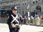 Photo of a police officer, Boston, USA