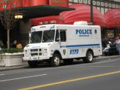 NYPD Communications Division van #4018 at Herald Square.