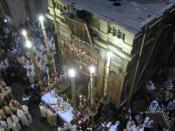 The Holy Seapulchre Church, Jerusalem. Catholic Holy Mass on Maundy Thursday / Crkva Svetoga groba u Jeruzalemu. Katolička sveta misa na Veliki četvrtak.