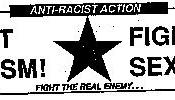 Anti-Racist Action banner from Art Against Racism