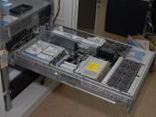 English: HP ProLiant DL380 G5 inside Русский: Сервер HP ProLiant DL380 G5 изнутри