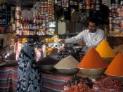 עברית: מוכר תבלינים בפקיסטן.