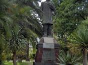 English: Statue of of the Mexican writer Ignacio Manuel Altamirano (1834-1894) in Sanremo, Italy