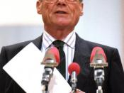 Willy Brandt in 1988 at the Münster party rally