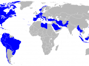 Map of the countries that used the T-33 Shooting Star