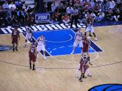 English: Dallas Mavericks at Cleveland Cavaliers game