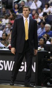 Rick Carlisle with the Dallas Mavericks