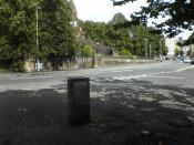 Memorial to the case of Donoghue v Stevenson in Paisley.