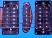 Humbucker-single-humbucker electric guitar pickup configuration from Yamaha RGX 521 guitar