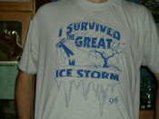 English: T-shirt of which came out after the North American ice storm of 1998.