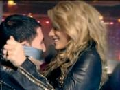 Kesha in the music video, duct taping a man's mouth closed in response to his attempt to hit on her.