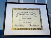 NJCCA Legal Fiction Writing Award