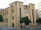 The Lebanese Parliament in downtown Beirut. This is where national unity government talks were held.