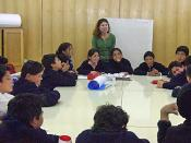 English: Picture of a class of Chilean English students and the English teacher from Calama, Chile.