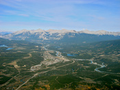 View of Jasper from the summit of The Whistlers