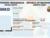 English: Macedonian identity card - front