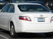 2007 Toyota Camry Hybrid photographed in USA. Category:Toyota Camry Hybrid Category:White Toyota sedans