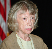 English: Joan Didion at the 2008 Brooklyn Book Festival in New York City. The photographer dedicates this photograph to Eleanor Silvers, mother of Jeffpw.